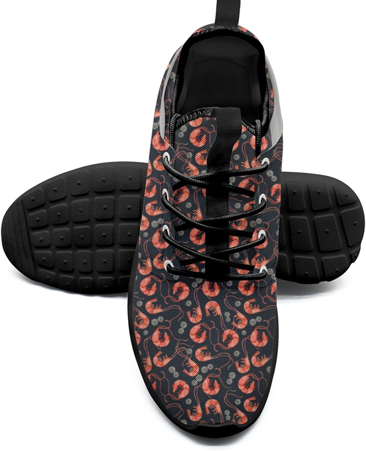 FAAERD Women's Fashion Lightweight Sneakers shoes Red Shrimps Summer Shrimps Beach Simple Sports shoes
