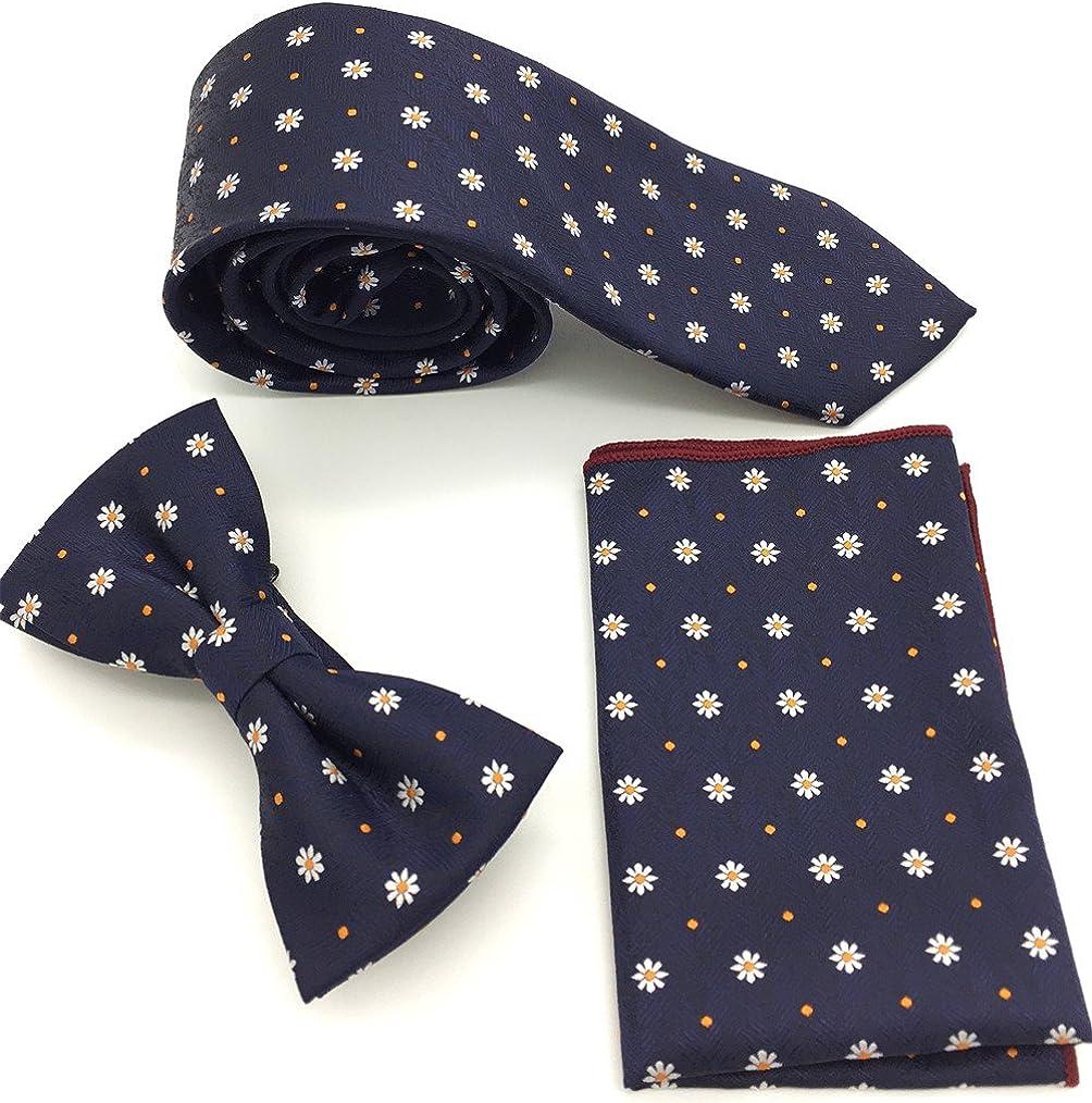 Vanyear Men's Necktie Set Floral Handmade Silk Jacquard Neck Ties for Men