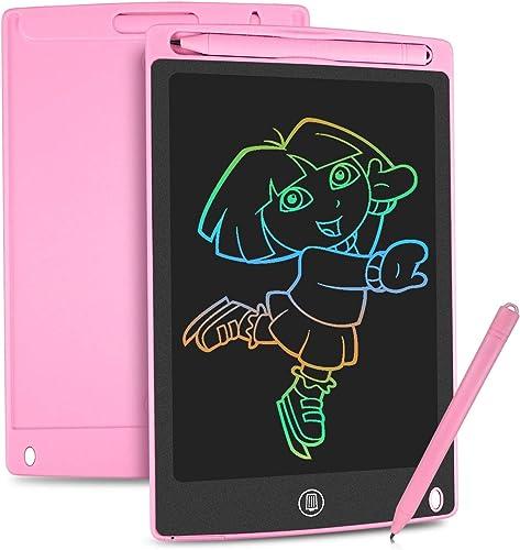 HOMESTEC Tablette d'écriture LCD colorée, Planche à Dessin de 8,5 Pouces Tablette Graphique Serrure à clé Écriture Ma...