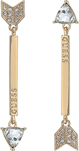 GUESS - Arrow Linear Earrings - One Up and One Down