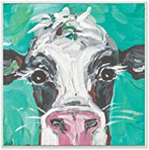 The Stupell Home Décor Collection Oreo The Cow Wood Plaque Wall Art, 12 x 12 Inches