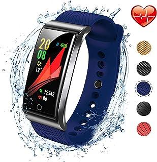 iSwim Pulsera Actividad, Pulsera Inteligente con Pulsómetro Pulsera Deportiva y Monitor de Ritmo Cardíaco Monitor de Actividad Impermeable IP67 Reloj Fitness Podómetro para Mujer Hombre