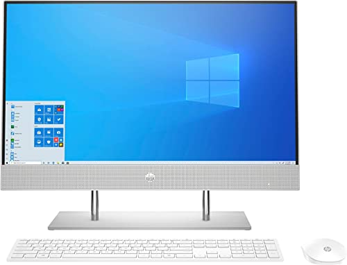 HP 23.8-inch FHD All in One Desktop with Alexa Built-in(10th Gen Intel Core i3-1005G1/8GB/512 GB SSD/Windows 10/ MS O...