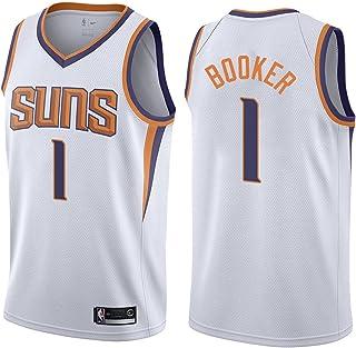 KKSY Herren Trikot Suns 1# Booker Trikots Atmungsaktiv Cool Breathable Weste Basketball Swingman Jersey,