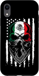 iPhone XR Mexican Skull 2020 American Mexican flag 4 th July Gift Case