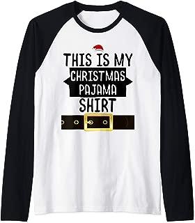 Christmas Pajama Gift For Sleep Lovers Raglan Baseball Tee