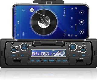 $49 » podofo Multimedia Car Audio Bluetooth Single Din Car Stereo MP3 Player Support AUX-IN, FM Radio,USB Input,Remote Control,P...