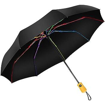 Blanc Parapluie Pliant Parapluie Pliable Automatique Ouverture et Fermeture R/ésistant /à Temp/ête Compact L/éger Parapluie de Voyage pour Homme et Femme