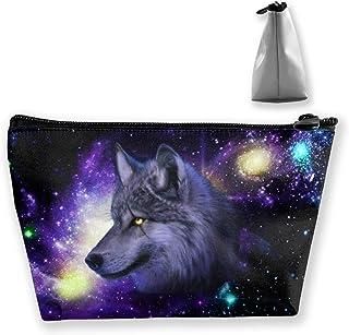 Gocerktr Galaxy Wolf حقيبة مستحضرات التجميل المقاومة للماء حقائب ماكياج أدوات الزينة منظم للنساء