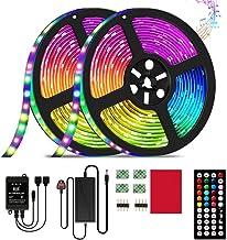 LED Strip Light,32.8ft/10m RGB LED Light Strip with 44 Keys IR Remote, 12V Power Supply 5050 RGB 600 LED Flexible Color Ch...