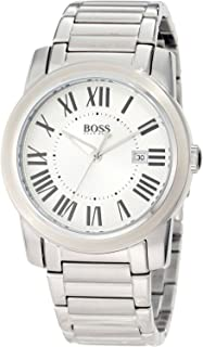 Hugo Boss Men's Quartz Watch with Black Dial Analogue Display and Silver Stainless Steel 1512717