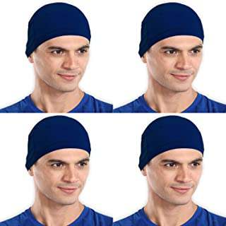 The Blazze Cotton Helmet Cap (Free Size, Royal Blue+Royal Blue+Royal Blue+Royal Blue)