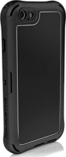 Ballistic Tungsten Sport Series Water Resistant Case for The Apple iPhone 6 and iPhone 6s - Black with Brushed Metal Black Back Plate