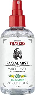 Thayers Natural Remedies Alcohol-Free Cucumber Witch Hazel Facial Mist Toner, 8 Ounce
