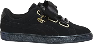 PUMA Women's Suede Heart Satin WMNS, Black Black