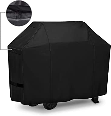 iCOVER BBQ Grill Cover - 60 inch Heavy Duty Barbeque Gas Grill Cover 600D Canvas Waterproof No Fading Smoker Covers, for Weber,Char Broil, Holland, Jenn Air, Brinkmann.