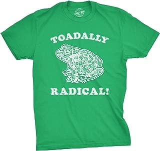 Mens Toadally Radical T Shirt Funny Frog Tee Sarcastic Reptile Top