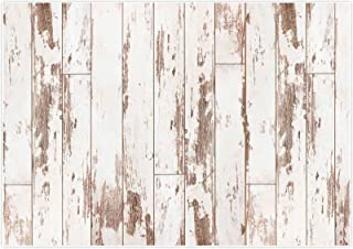 Allenjoy 8x6FT Soft Fabric White Wood Rustic Wooden Floor Backdrop for Newborn Photography Photographic Background Baby Shower Kids Birthday Cake Smash Photoshoot Photographer Props