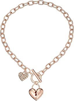 GUESS - Puffy Heart Toggle Necklace