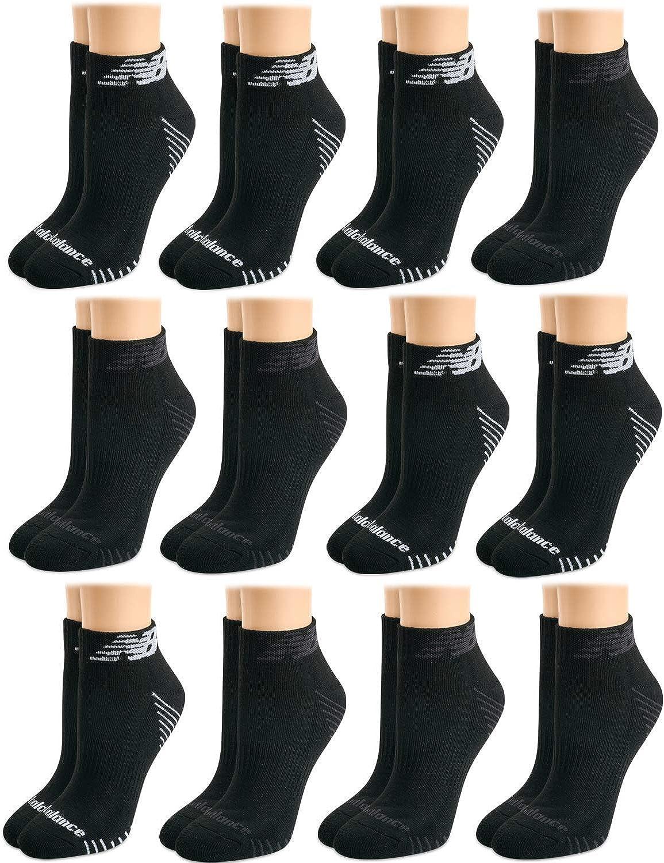 New Balance Women's Athletic Arch Compression Cushion Comfort Quarter Socks (12 Pack)