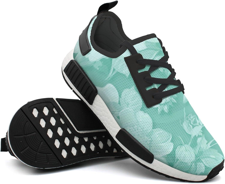 Fashion Sneaker For Men Floral Spring Blossom Stylish Lightweight Breathable Mesh Mens Sneaker