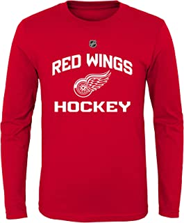Outerstuff NHL NHL Detroit Red Wings Youth Boys Locker Standard Arch Long Sleeve Tee, Red, Youth Medium(10-12)