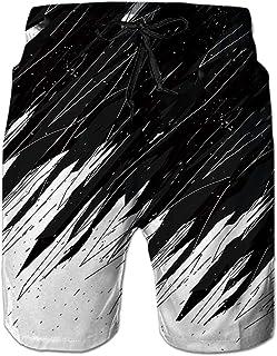 NEWISTAR Mens Medium Length 3D Print Graphic Summer Beach Shorts Surfing Trunks S-XXXL