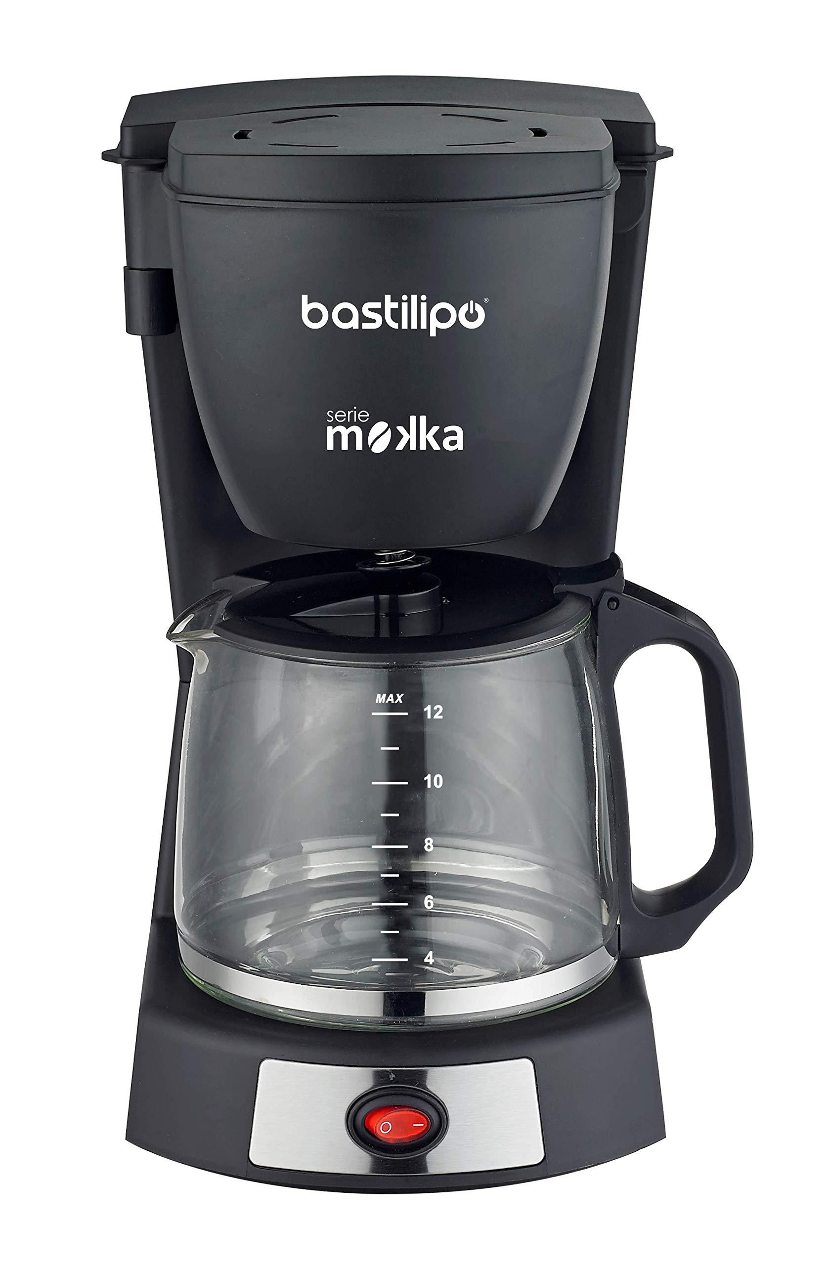 Bastilipo 6879 Cafetera Goteo, 680 W, 14 Cups, Acero Inoxidable, Negro/Plata: Amazon.es: Hogar