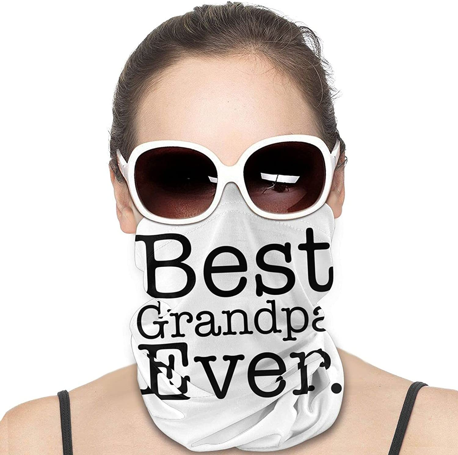 Best Grandpa Ever Round Neck Gaiter Bandnas Face Cover Uv Protection Prevent bask in Ice Scarf Headbands Perfect for Motorcycle Cycling Running Festival Raves Outdoors