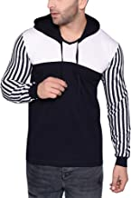 Katso Men's Cotton Hooded Stripes T-Shirt