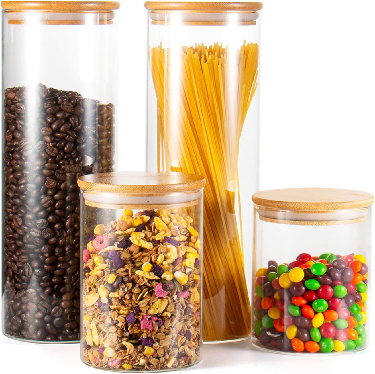 Glass Max 58% OFF Jar 4 years warranty with Lid Set of Jars Food Storage J TAOUNOA