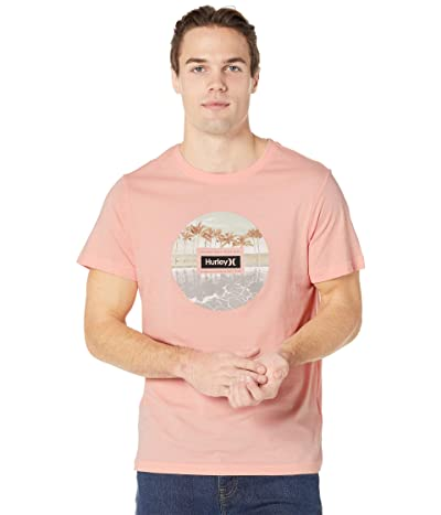 Hurley Palm Tree Collection Short Sleeve Graphic T-Shirt (Coral) Men