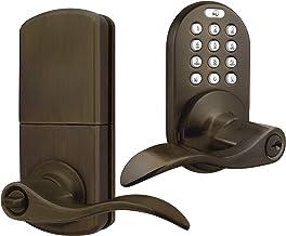 MiLocks TKL-02AQ Alavanca digital trava de porta com entrada sem chave através de código de teclado para portas internas, ...