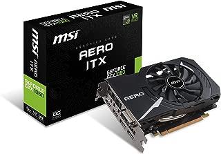 MSI GAMING GeForce GTX 1060 6GB GDRR5 192-bit HDCP Support DirectX 12 Single Fan VR Ready ITX OC Graphics Card (GTX 1060 AERO ITX 6G OC)