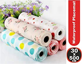 Anti Slip PVC Waterproof Place Mat for Kitchen Cupboard Liners, Refrigerator, Table (Multicolour) (30X500cm)