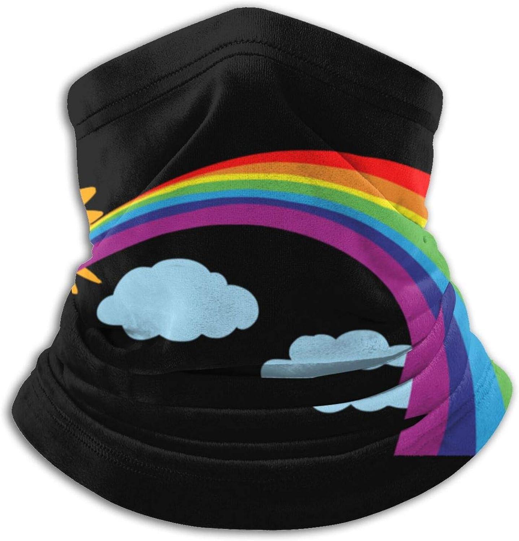 Winter Neck Gaiter Warmer Soft Face Mask Scarf Rendered Rainbow Outdoor Sports Neck Warmer Headwear for Men Women