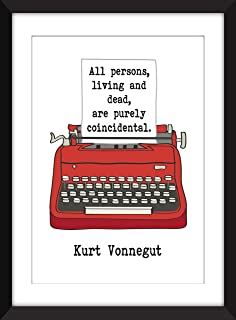 Kurt Vonnegut - All Persons, Living and Dead, Are Purely Coincedental - Unframed Print/Sin Marco