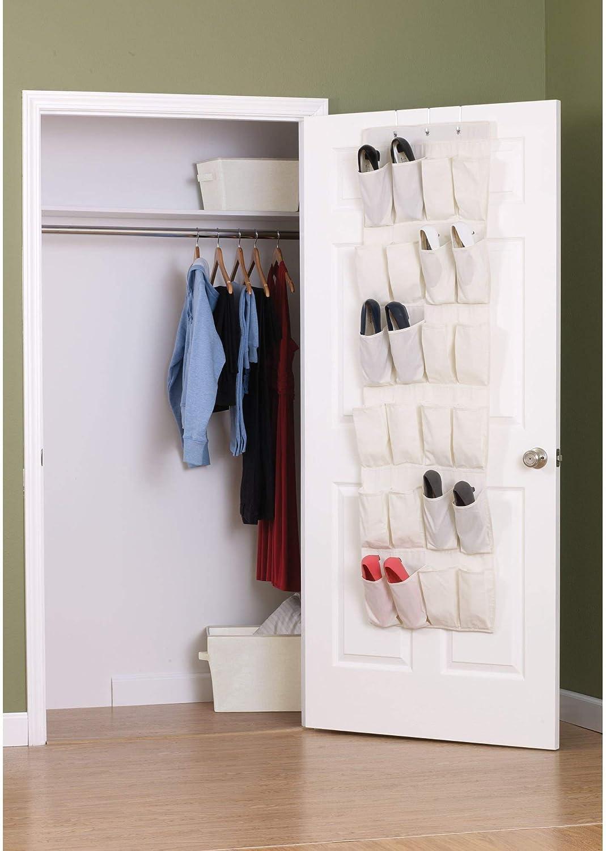 24Pocket Over the Door Shoe Organizer Rack Hanging Storage Space Save Closet Bag