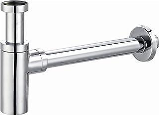 """Premium Design Tassengeruchverschluss Siphon für Waschbecken universal 1 1/4"""" x 32mm chrom, rund – extra lange Rohre- inklusive Dichtungen - by kör4u"""