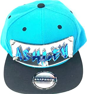 Custom Snapback Hat Create Your Own Name or Word Custom Made Laser Cut Graffiti Letter Hats, Very Popular, Super Fit, Comfortable Personalized Snap Back, Great Gift, an Exclusive Creation Turquoise