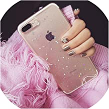 Clear Glitter Star Cover for iPhone Xs MAX X 7 8 Plus XR Soft TPU Coque Case for iPhone 11 Pro Max for iPhone 6s 6 s Plus Case 8plus,for iPhone 7 Plus,Clear Star