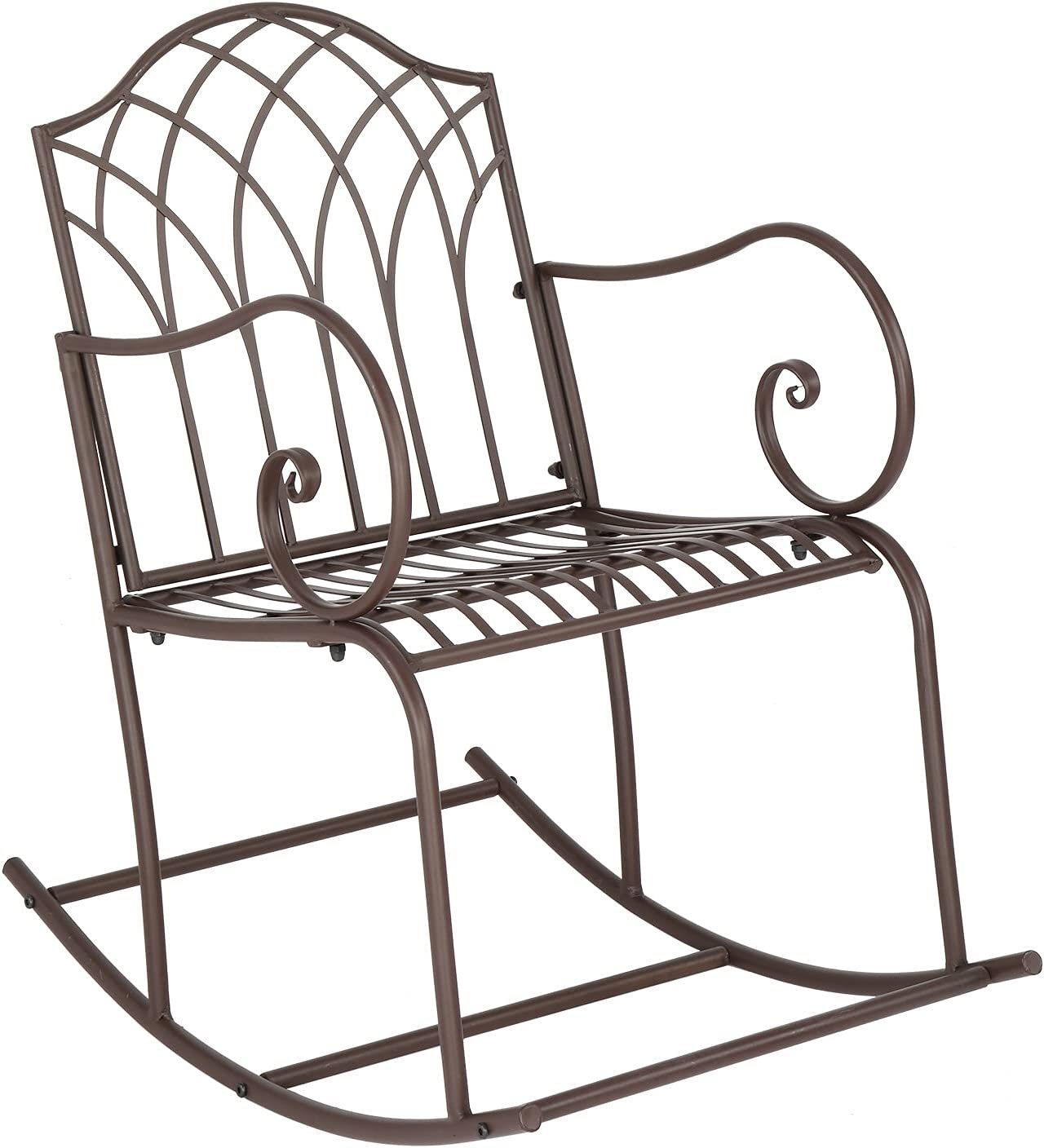 Save money GANGBAOBEI Iron Rocking Chair Outdoor Patio Rock Chairs Direct sale of manufacturer