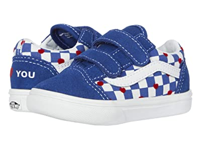 Vans Kids Autism Awareness ComfyCush Old Skool V (Infant/Toddler) ((Autism Awareness) Vans Heart/True Blue) Kids Shoes