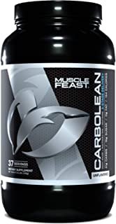 Muscle Feast CarboLean, Pre, Intra, Post Workout, 3-Stage Delivery Carbohydrate Blend, Recover Faster, 100% Natural (3.5lbs, Unflavored)