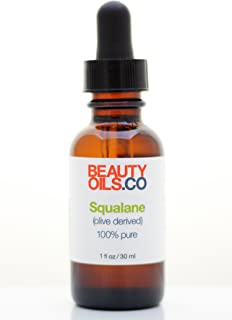 Squalane Oil (Olive Derived) 100% Pure Plant Based (1 fl oz) Face Oil Moisturizer for Dry Skin, Fine Lines and Wrinkles
