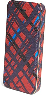 Gorgeous Vera Bradley Snap On Case with Card Slots for iPhone 5/5s in Navy/Red Art Plaid