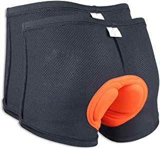 Velomayka 2-Pack Men Bicycle Cycling Comfortable Underwear Gel 3D Padded Bike Short Pants Cycling