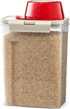Komax Fresh Grain Set of 1 Rice Containers | 2-Quart Dry Food Storage Dispenser | Suitable for Rice, Pet Food & Grain Stor...