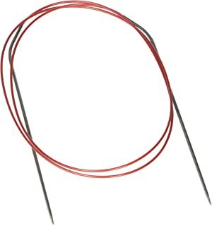 ChiaoGoo Red Lace Circular 40-inch (100cm) Stainless Steel Knitting Needle; Size US 0 (2mm) 7040-0