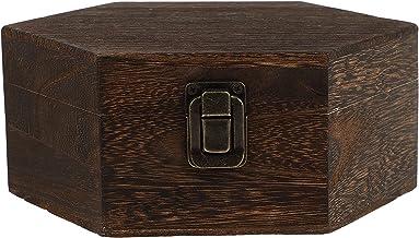 Cabilock Pudełko do przechowywania 1 sztuka retro drewniane pudełko na biżuterię pudełko na biżuterię pudełko do przechowy...